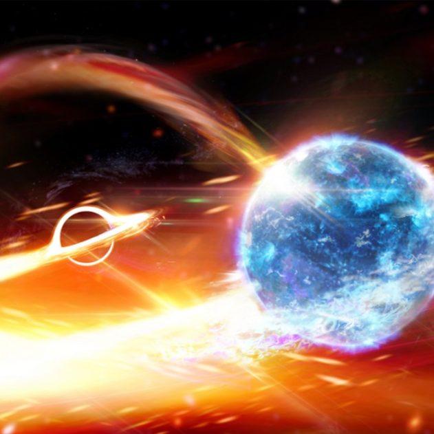 trou noir etoile neutrons ondes gravitationnelles
