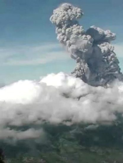 volcan merapi indonesie eruption volcanique geologie cendres