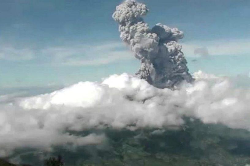 volcan merapi indonesie eruption volcanique geologie cendres