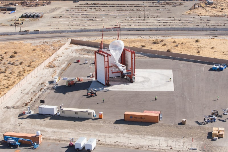 base lancement ballons stratosphériques loon 4G kenya