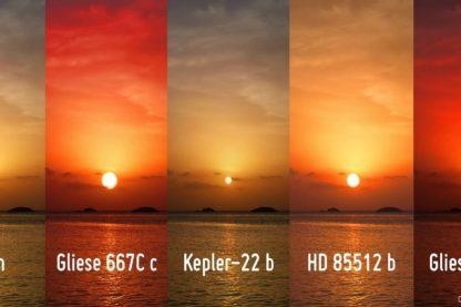 couchers soleil planetes