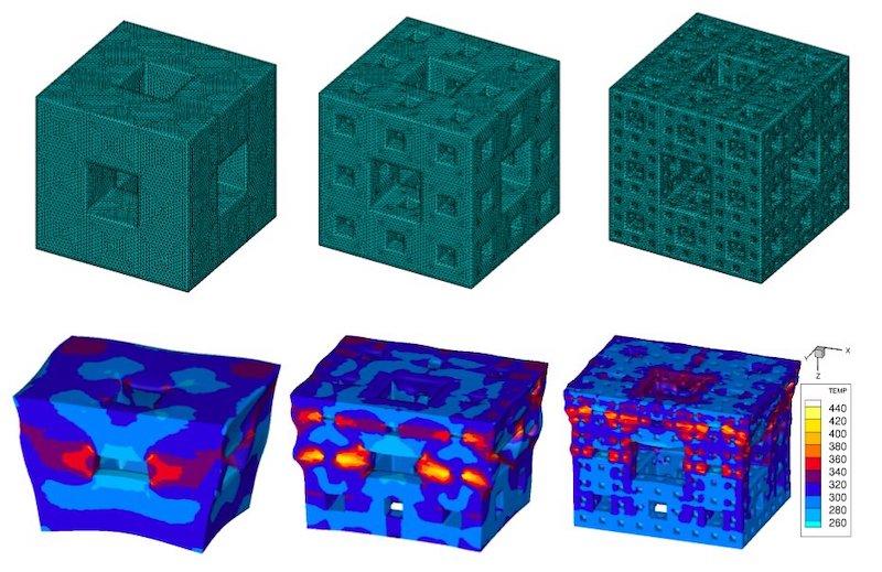 dissipation chocs structures cubiques fractales
