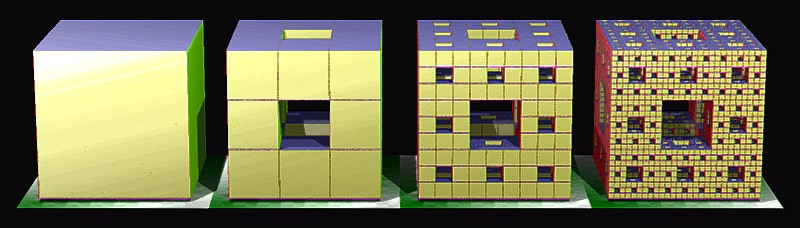 eponge menger fractales construction