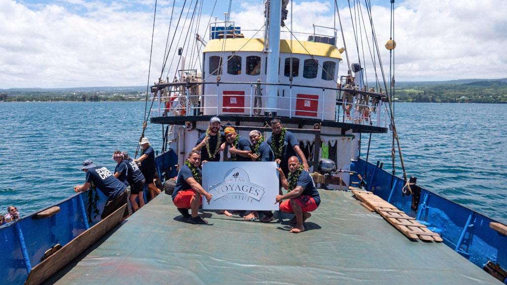 équipage navire nettoyage océans
