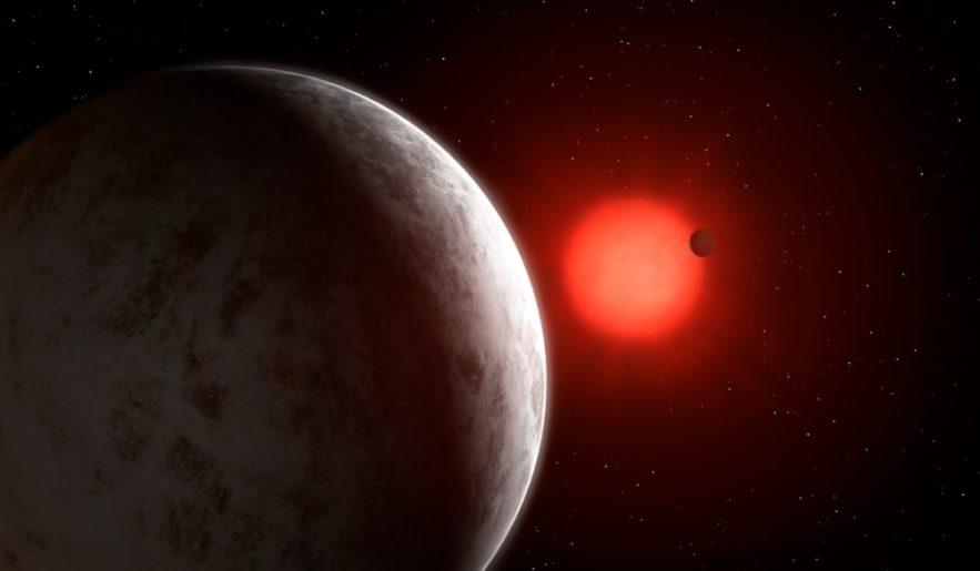 vue artiste exoplanètes Gliese 887