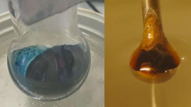 expérience ammoniac métal alcalin transformation