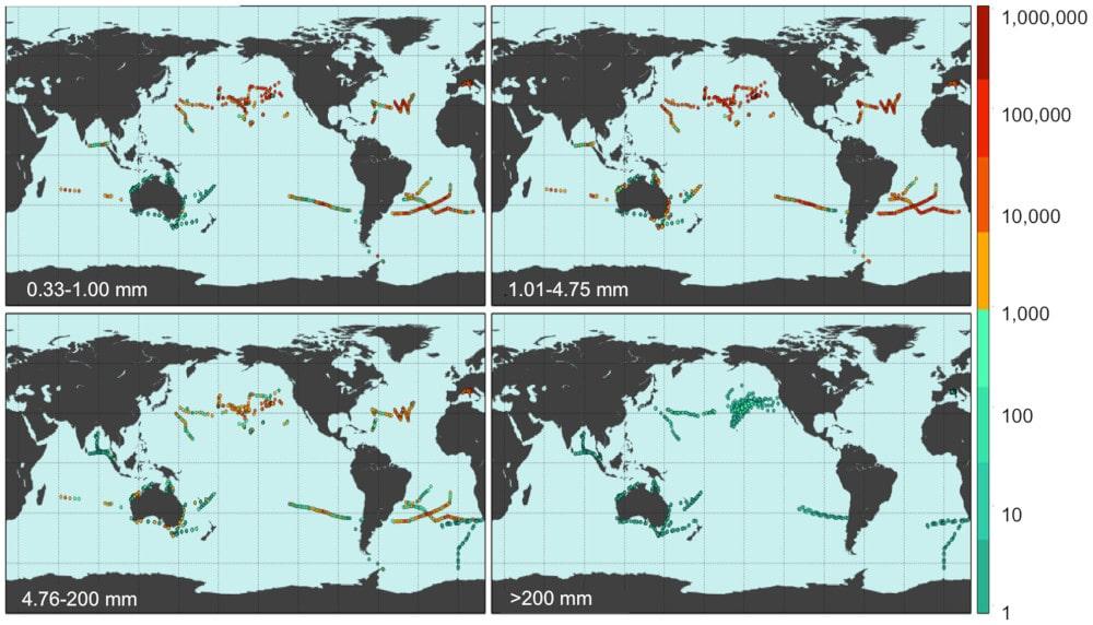 répartition déchets plastiques océans