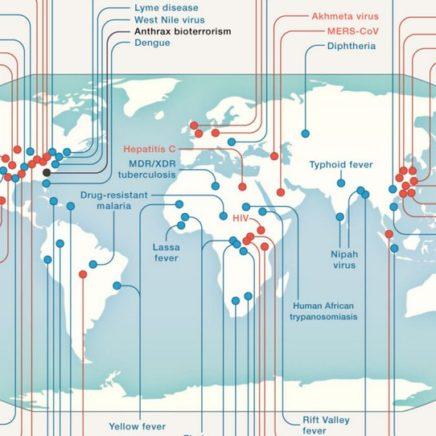 carte monde maladies