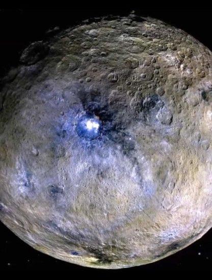 Cérès points lumineux gisements sels océan