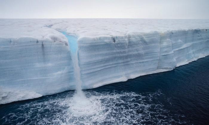 archipel svalbard norvege fonte glace groenland
