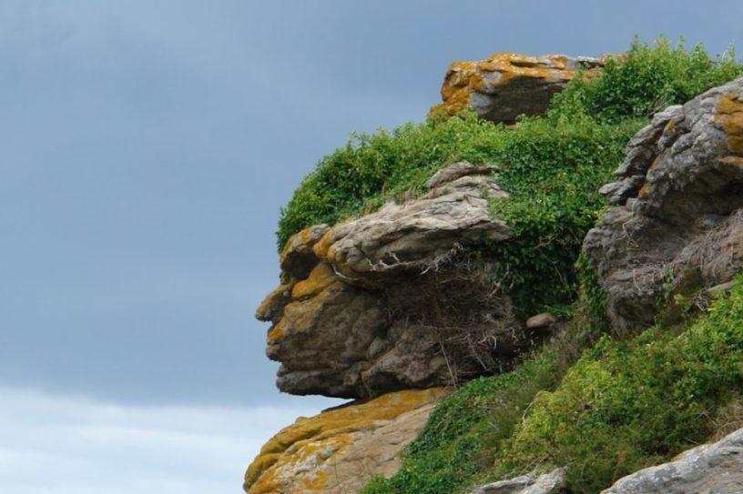 rocher visage