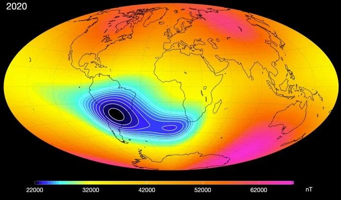 scission anomalie magnétique sud atlantique