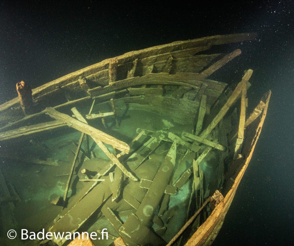 cabine principale arriere navire 17e siecle etrangement bien conserve mer baltique