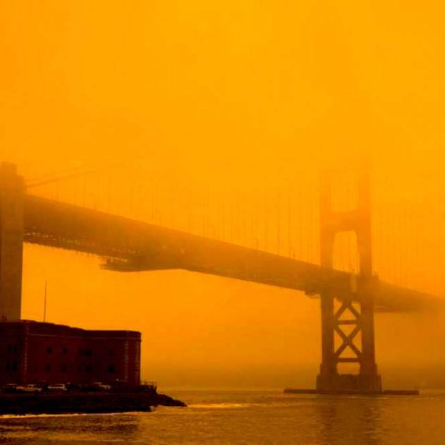 ciel californie orange apocalyptique 2020 pont