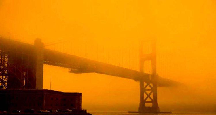 ciel californie orange apocalyptique 2020 pont