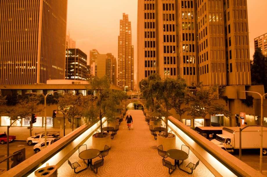 ciel californie couleurs apocalyptiques 2020 ville