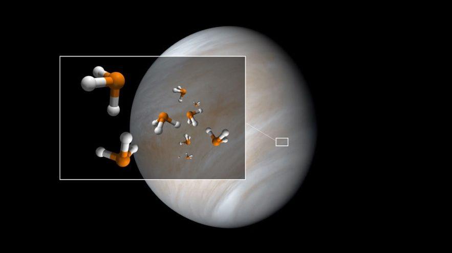 détection molécule phosphine ph3 atmosphère vénus