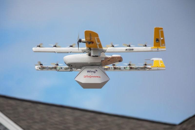 drones livraison wing google