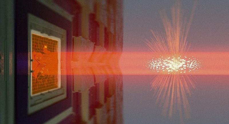 intrication oscillateur mécanique nuage atomique photons