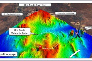 mineurs decouvrent cratere meteorite vieux 100 millions annees altitude ora banda