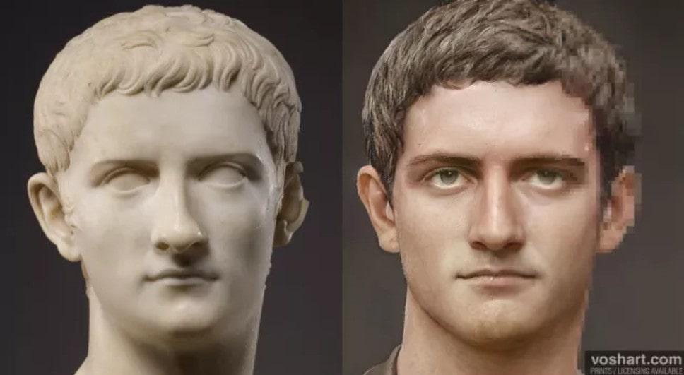 portrait empereur Caligula