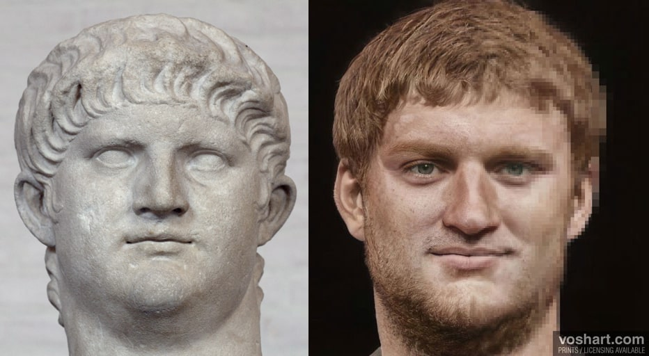 portrait empereur Néron