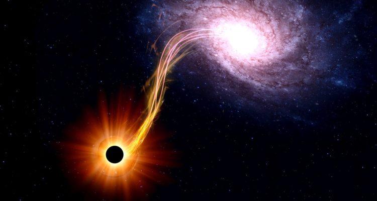 simulation comportement trou noir laboratoire impulsions laser