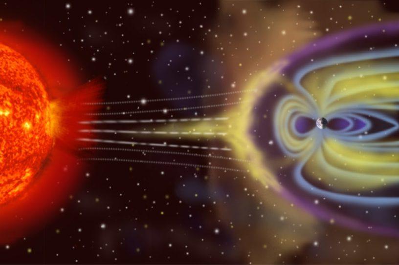 champ magnétique lune protection terre