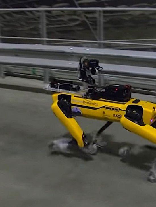 chien-robot boston dynamics visite centrale tchernobyl