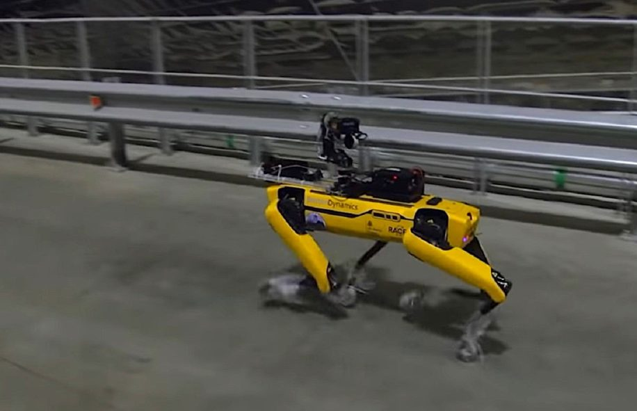 chien-robot boston dynamics visite centrale tchernobyl