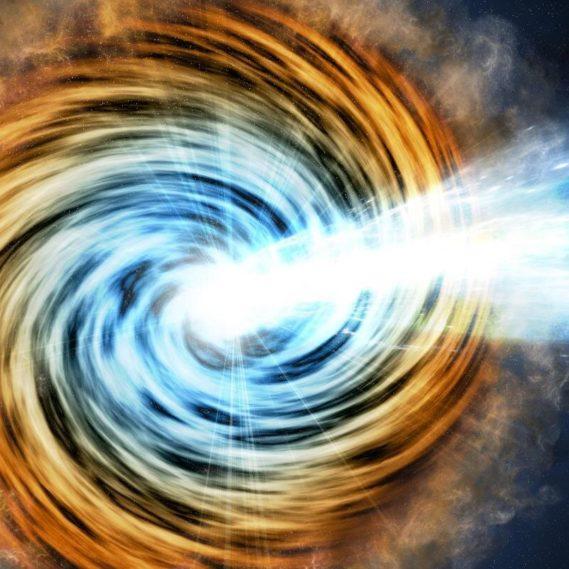 decouverte blazar galaxie trou noir rare datant 12 milliards annees