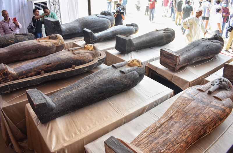 découverte cercueils sarcophages saqqarah