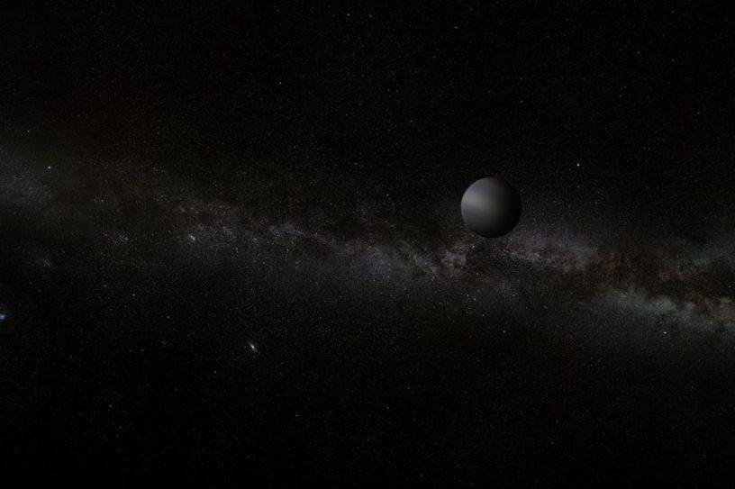 découverte planète masse terrestre errant Voie lactée couv