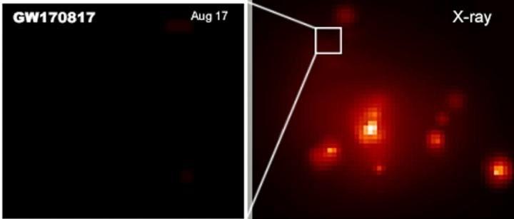 émission rayons X GW170817 fusion étoiles neutrons