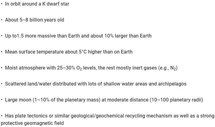 liste conditions superhabitabilité planètes