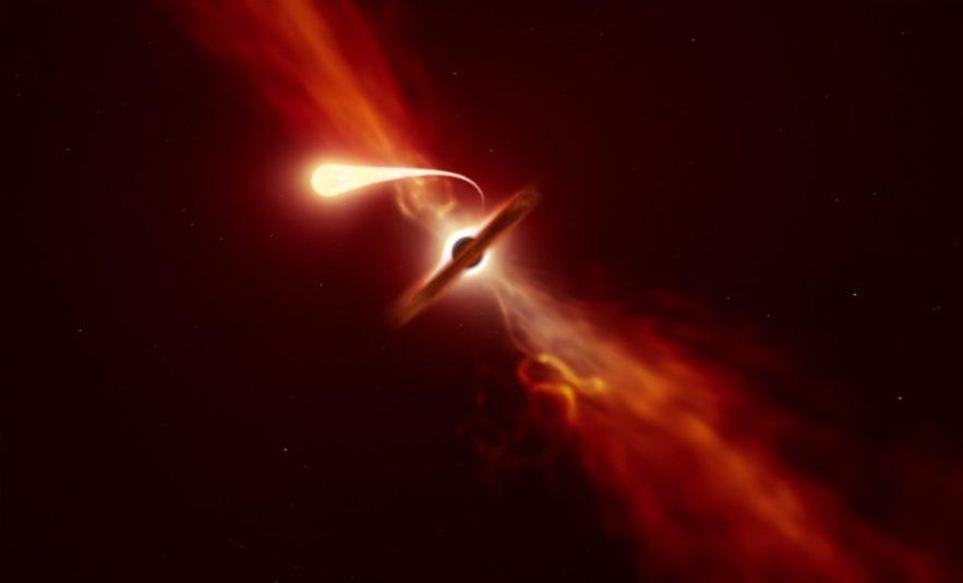observation spaghettification étoile trou noir couv