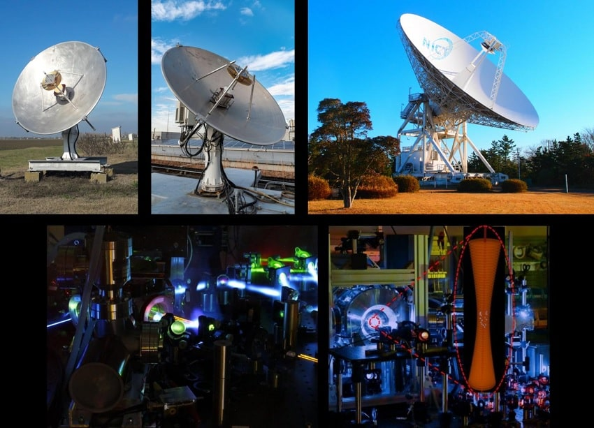 radiotélescopes Japon Italie horloges atomiques optiques