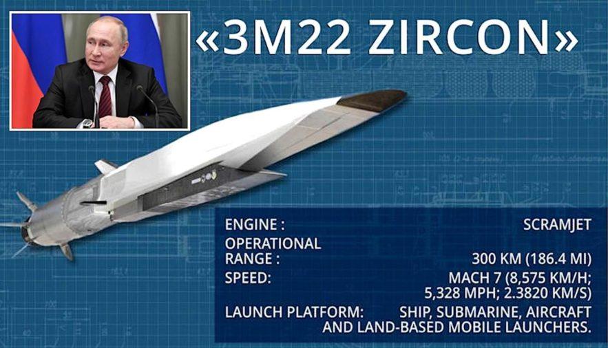 russie lancement essai reussi nouveau missile hypersonique zircon fiche caracteristiques techniques