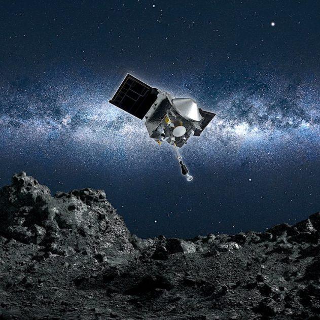 sonde osiris rex atterrit succes asteroide bennu cellecte echantillons