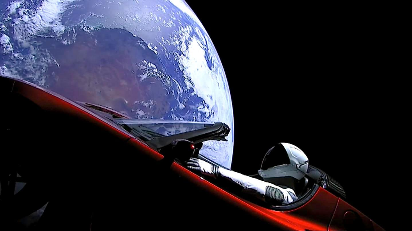 starman premier vol rapproche mars tesla roadster