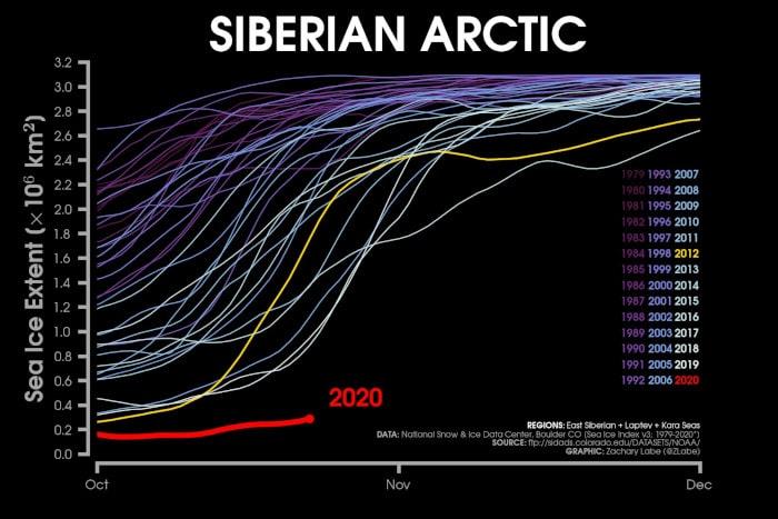 évolution surface glace arctique