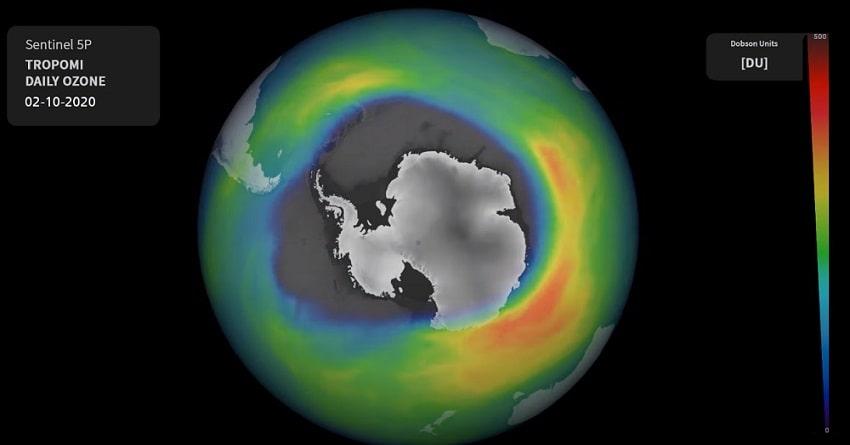 taille maximale octobre 2020 trou couche ozone antarctique