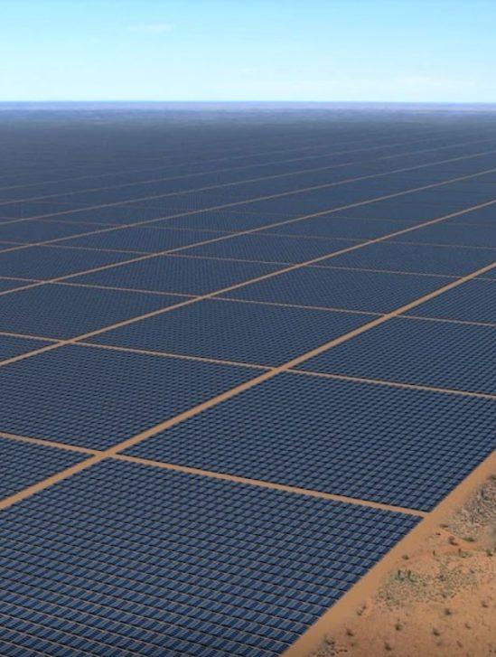 vue artiste ferme solaire sun cable
