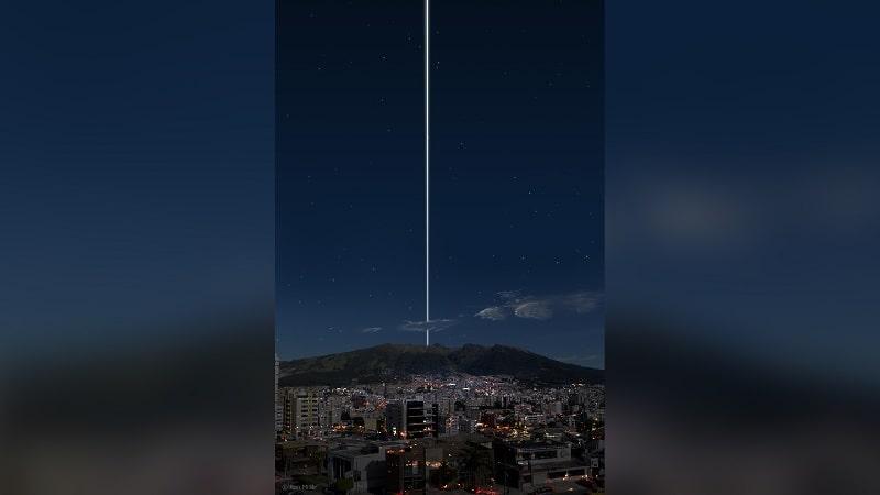 anneaux Terre depuis équateur