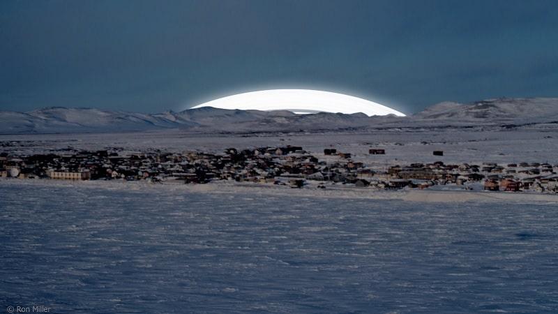 anneaux terre cercle arctique