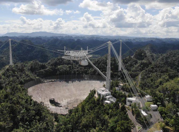 dégâts télescope arecibo démantèlement
