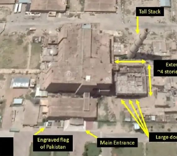 google earth revele possible usine armement nucleaire pakistan