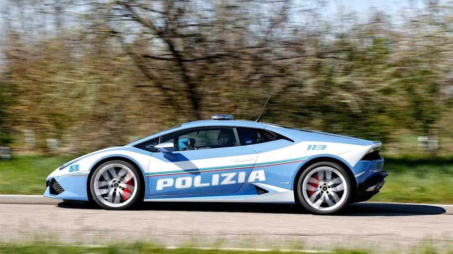 police italienne lamborghini huracan transport organes