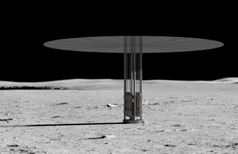 réacteur nucléaire lune nasa