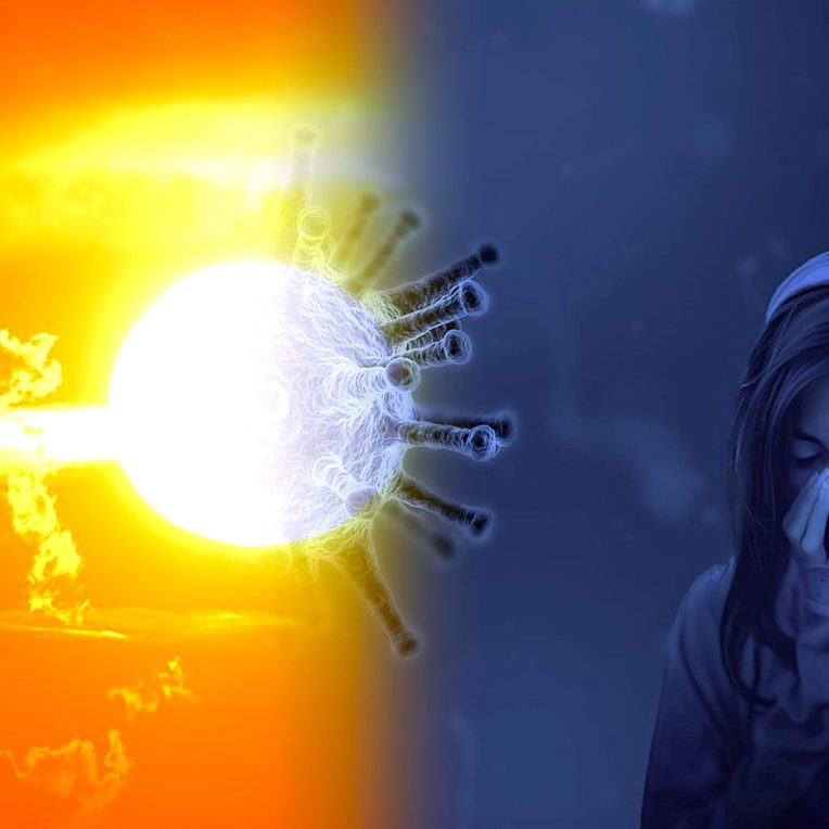 role soleil propagation maladies respiratoires virales